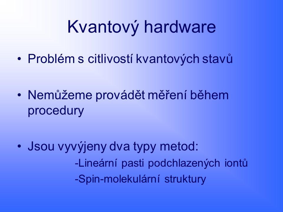 Kvantový hardware Problém s citlivostí kvantových stavů
