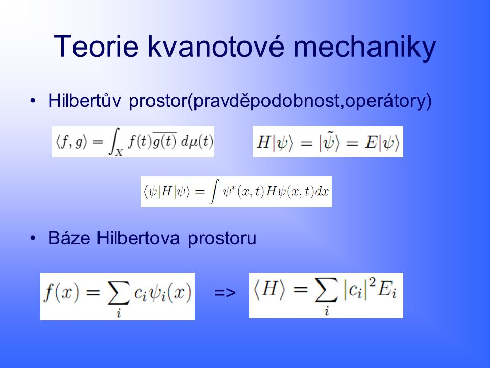 Teorie kvanotové mechaniky
