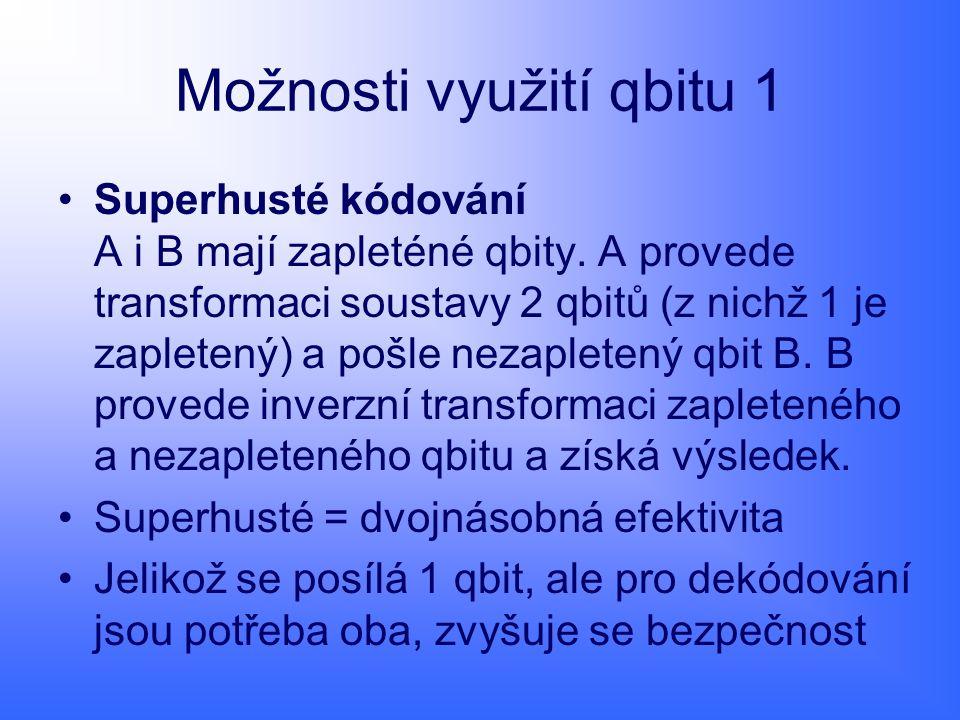 Možnosti využití qbitu 1