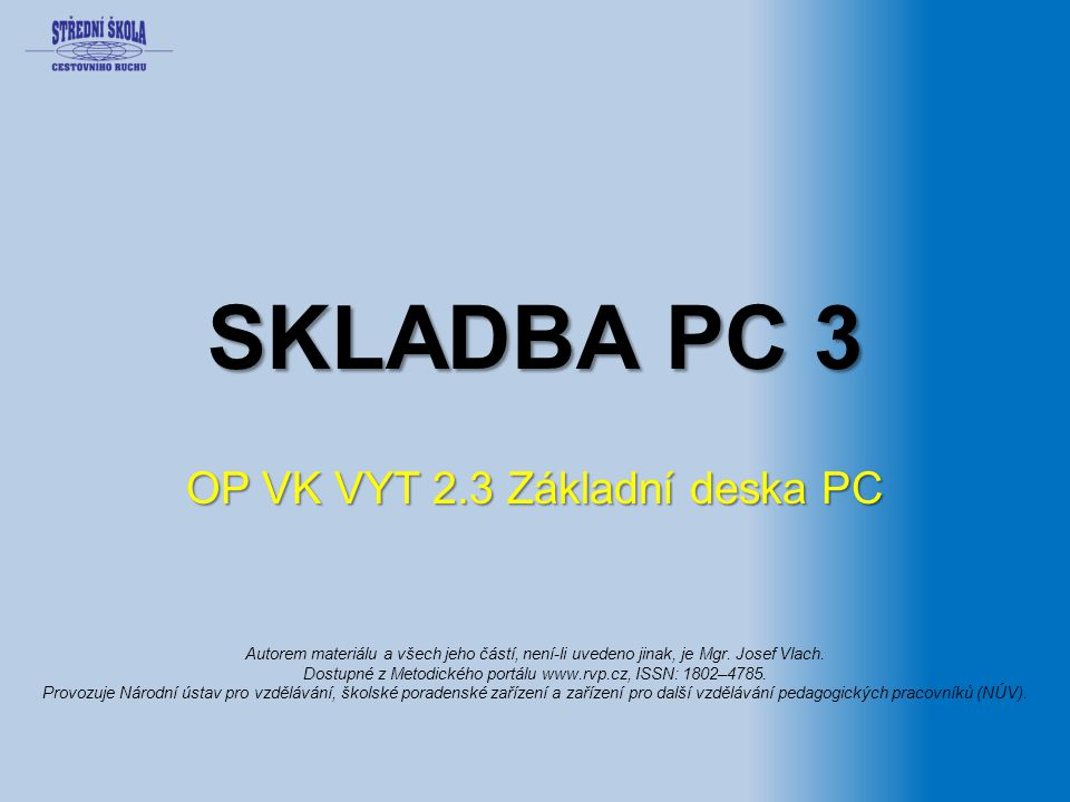 OP VK VYT 2.3 Základní deska PC