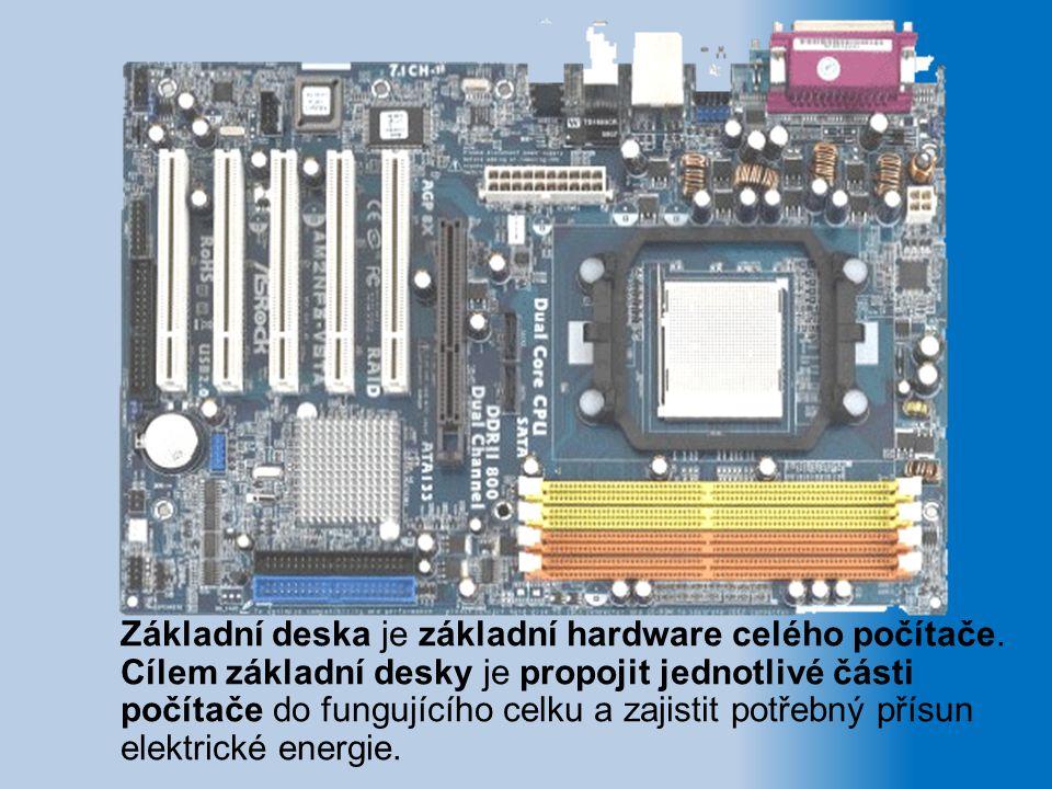 Základní deska je základní hardware celého počítače