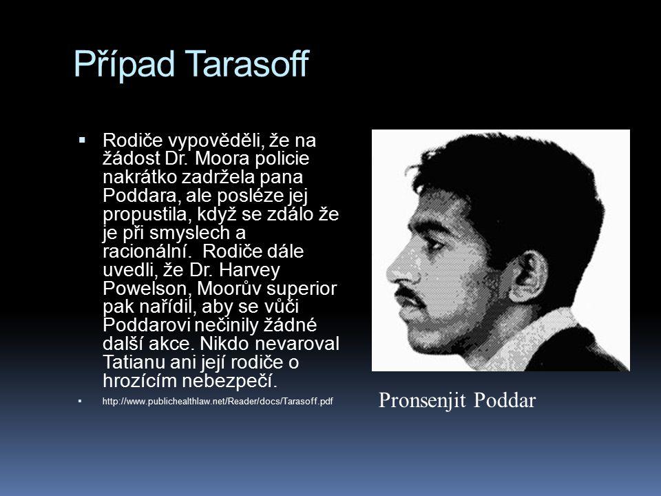 Případ Tarasoff Pronsenjit Poddar