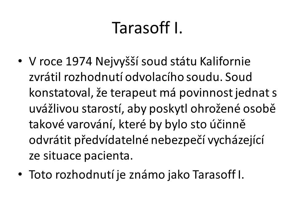 Tarasoff I.