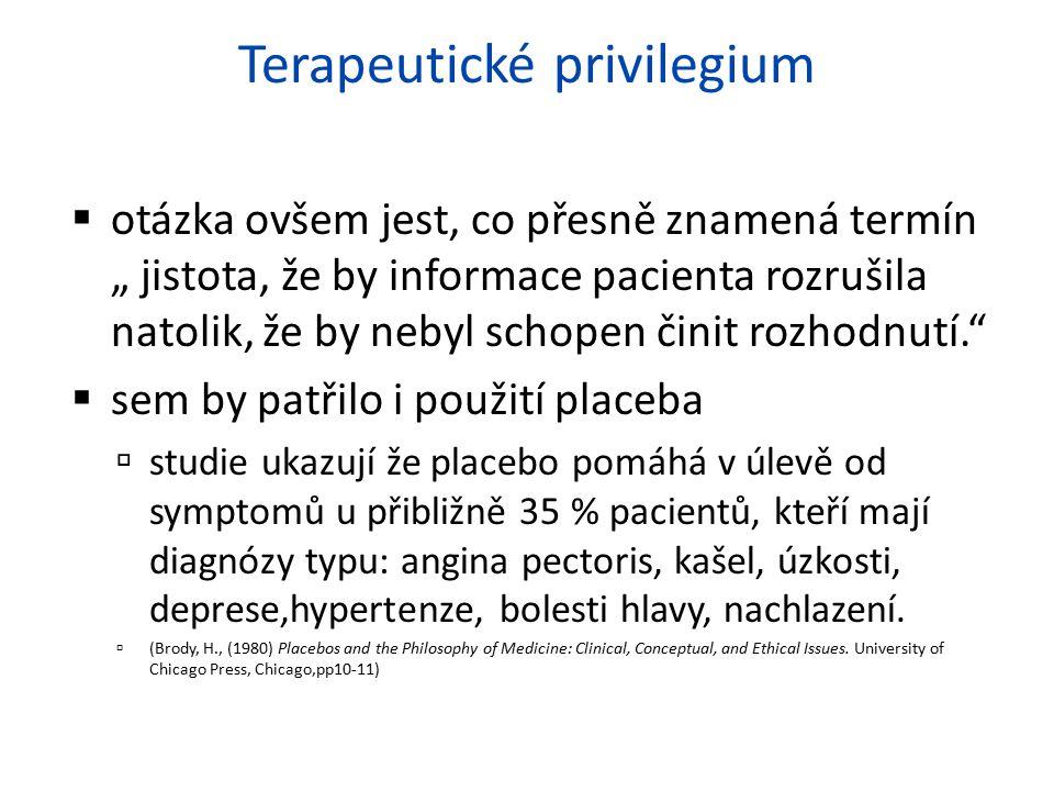 Terapeutické privilegium