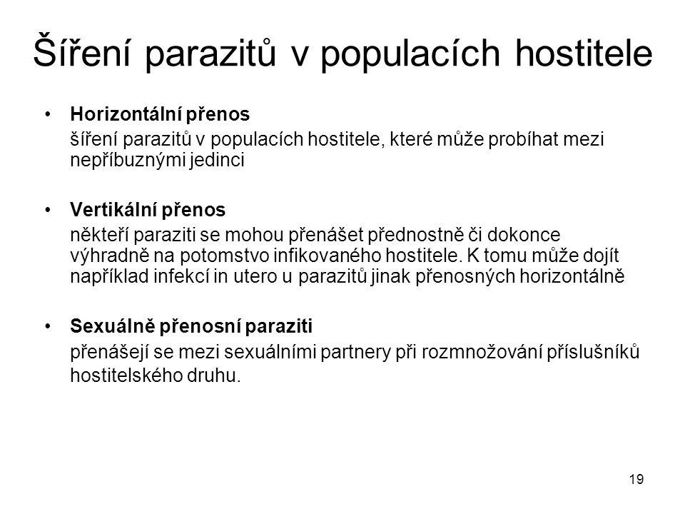 Šíření parazitů v populacích hostitele
