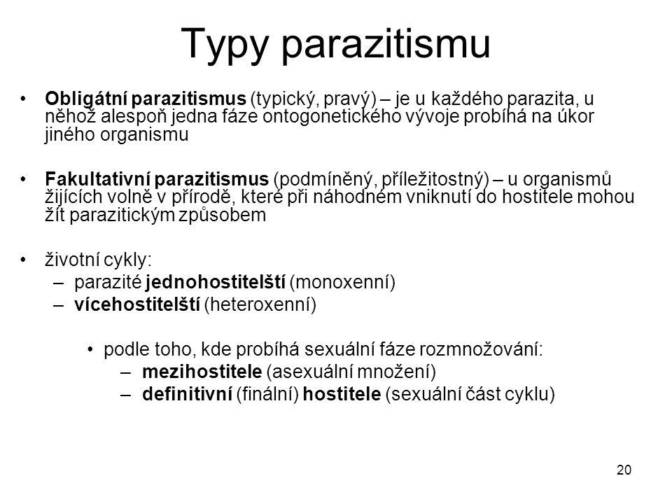 Typy parazitismu
