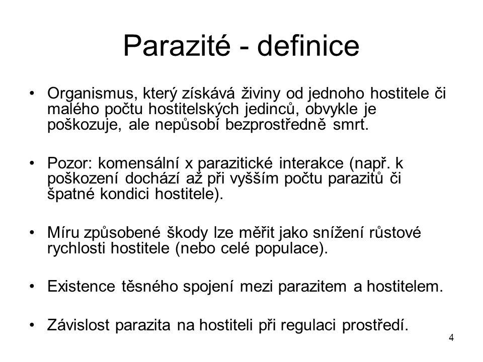 Parazité - definice