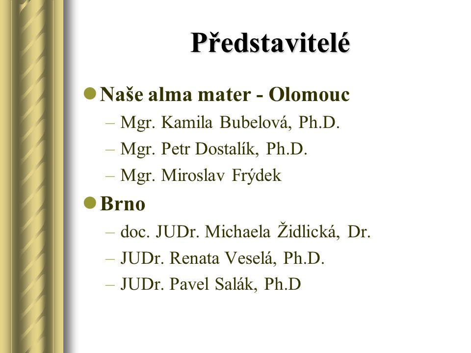 Představitelé Naše alma mater - Olomouc Brno