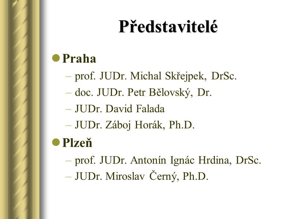 Představitelé Praha Plzeň prof. JUDr. Michal Skřejpek, DrSc.