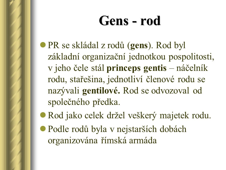 Gens - rod