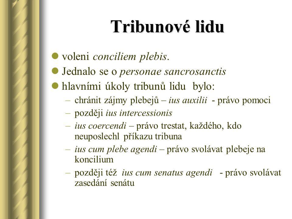 Tribunové lidu voleni conciliem plebis.