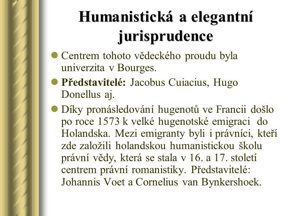 Humanistická a elegantní jurisprudence