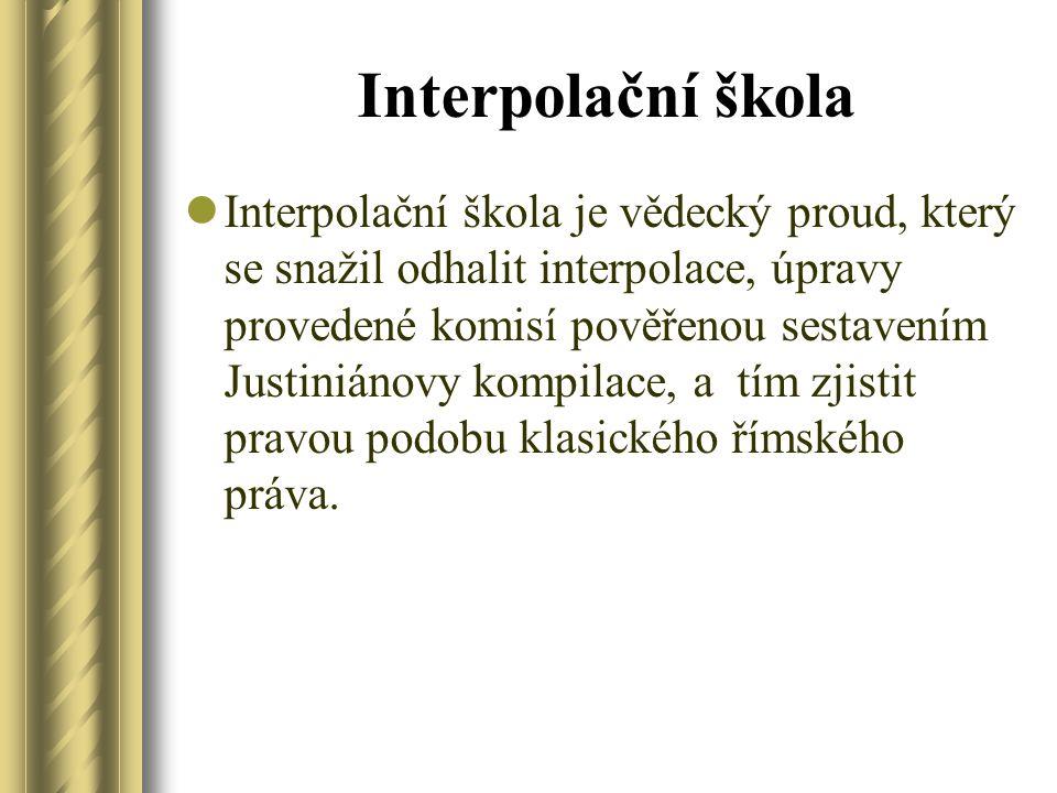 Interpolační škola