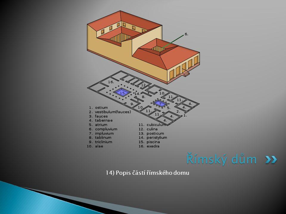 14) Popis částí římského domu