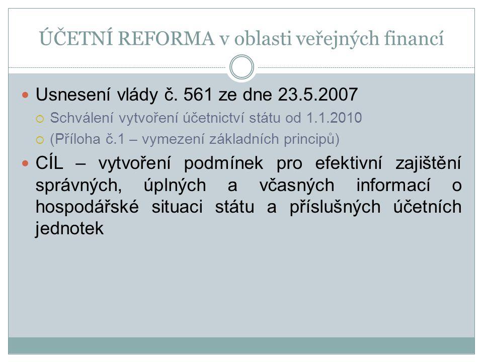 ÚČETNÍ REFORMA v oblasti veřejných financí