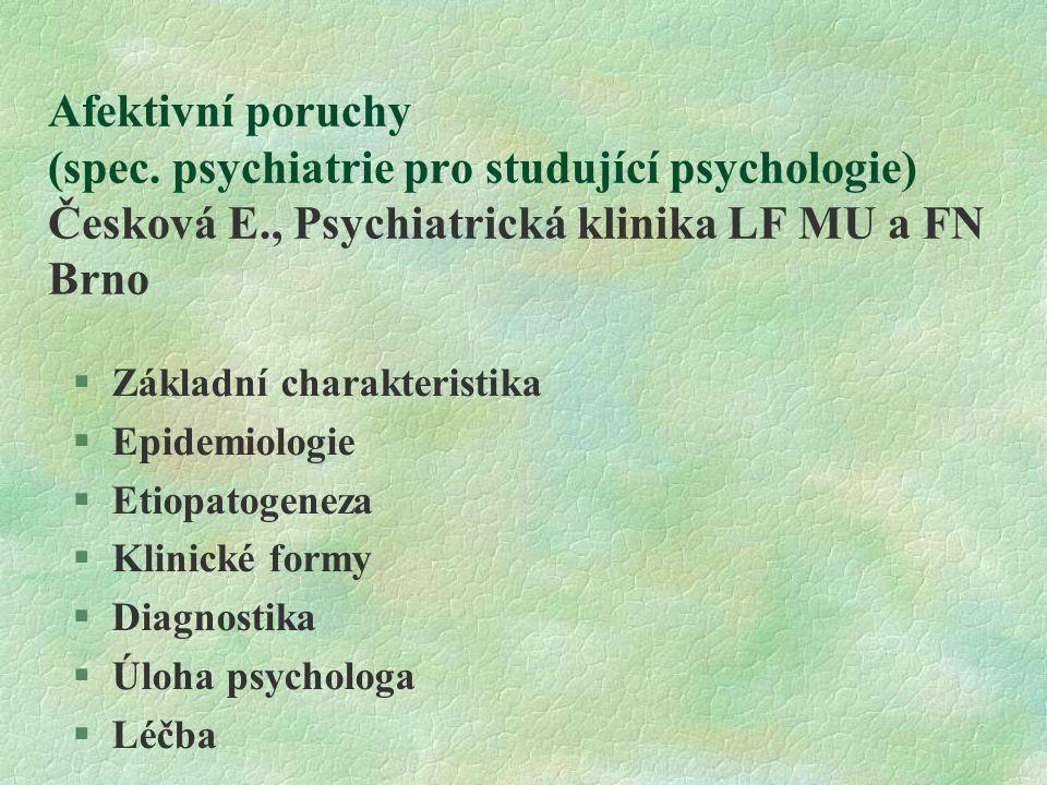 Afektivní poruchy (spec