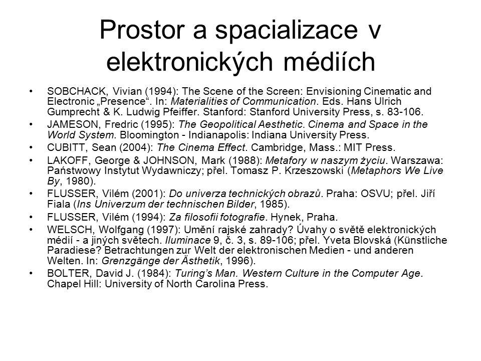 Prostor a spacializace v elektronických médiích