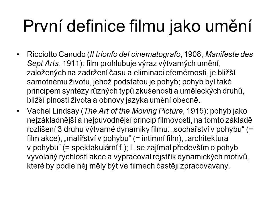 První definice filmu jako umění