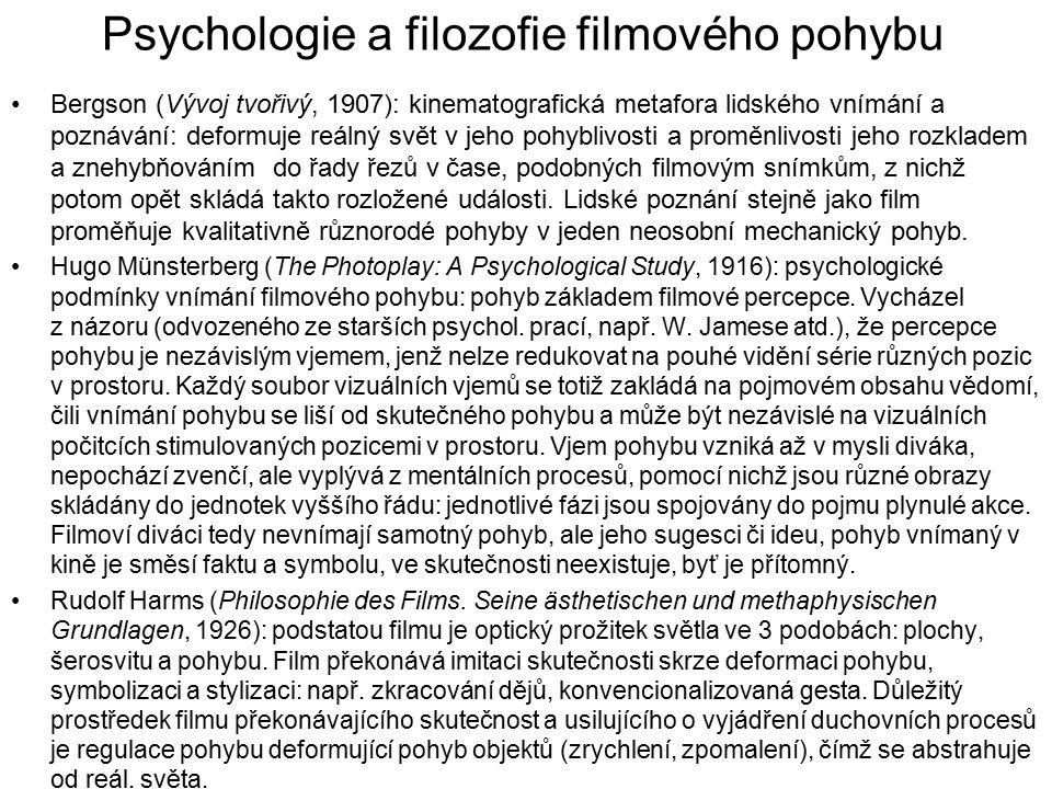 Psychologie a filozofie filmového pohybu