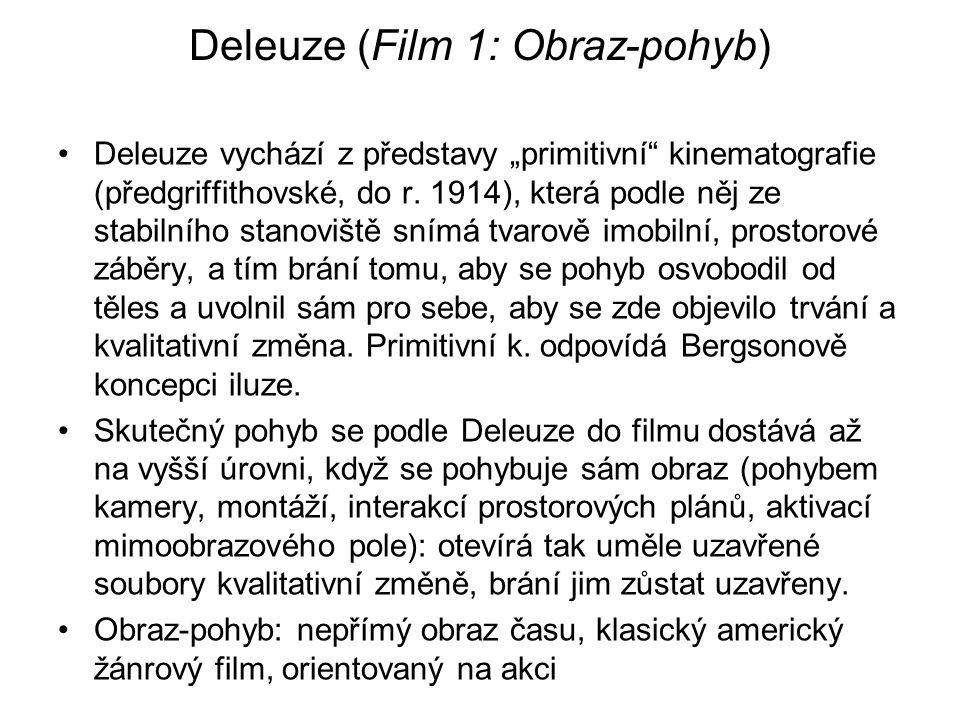 Deleuze (Film 1: Obraz-pohyb)