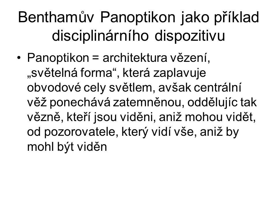 Benthamův Panoptikon jako příklad disciplinárního dispozitivu