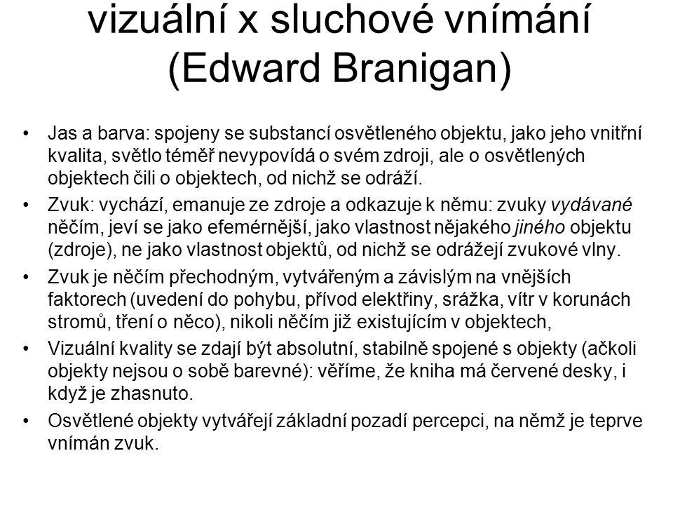 vizuální x sluchové vnímání (Edward Branigan)