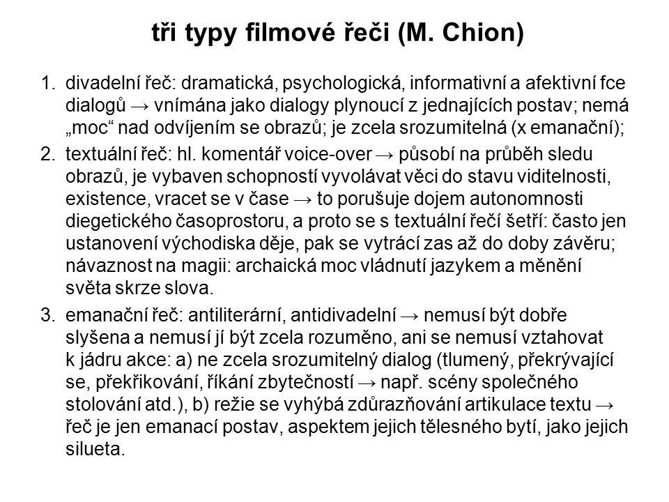 tři typy filmové řeči (M. Chion)