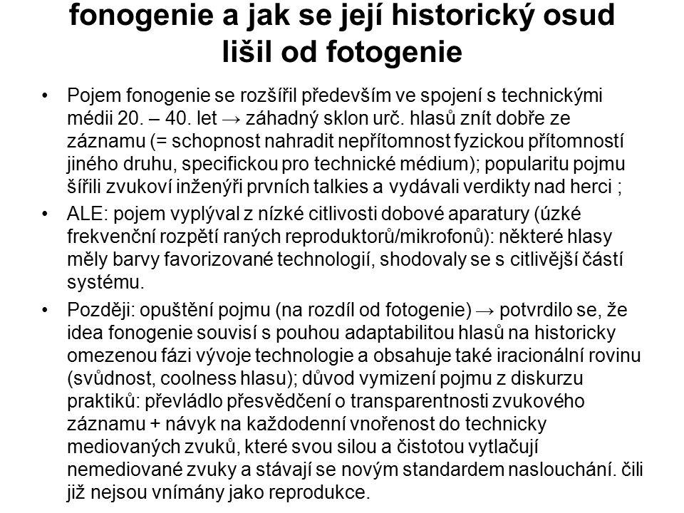 fonogenie a jak se její historický osud lišil od fotogenie