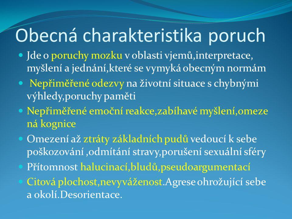 Obecná charakteristika poruch