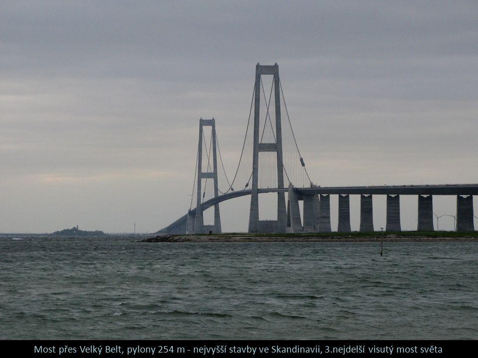 Most přes Velký Belt, pylony 254 m - nejvyšší stavby ve Skandinavii, 3