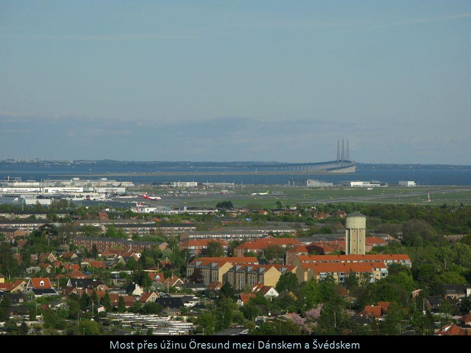Most přes úžinu Öresund mezi Dánskem a Švédskem