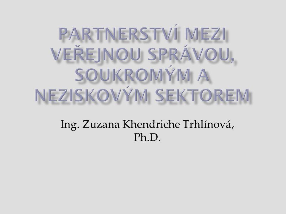 Partnerství mezi veřejnou správou, soukromým a neziskovým sektorem