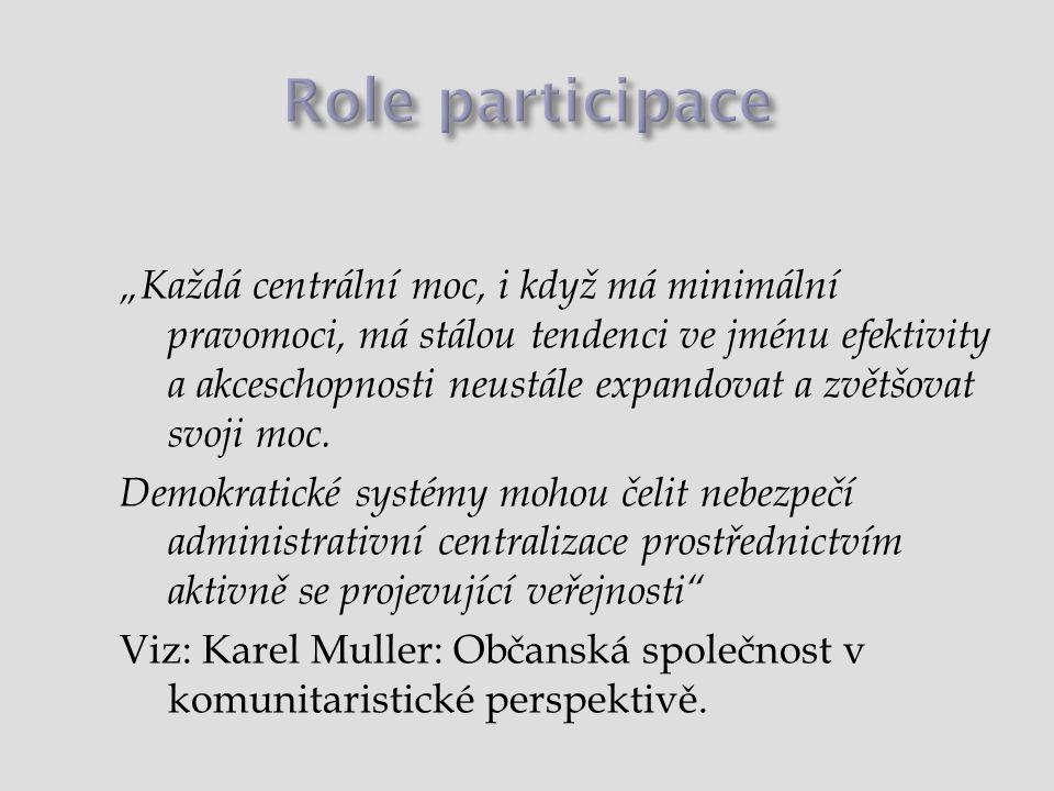 Role participace