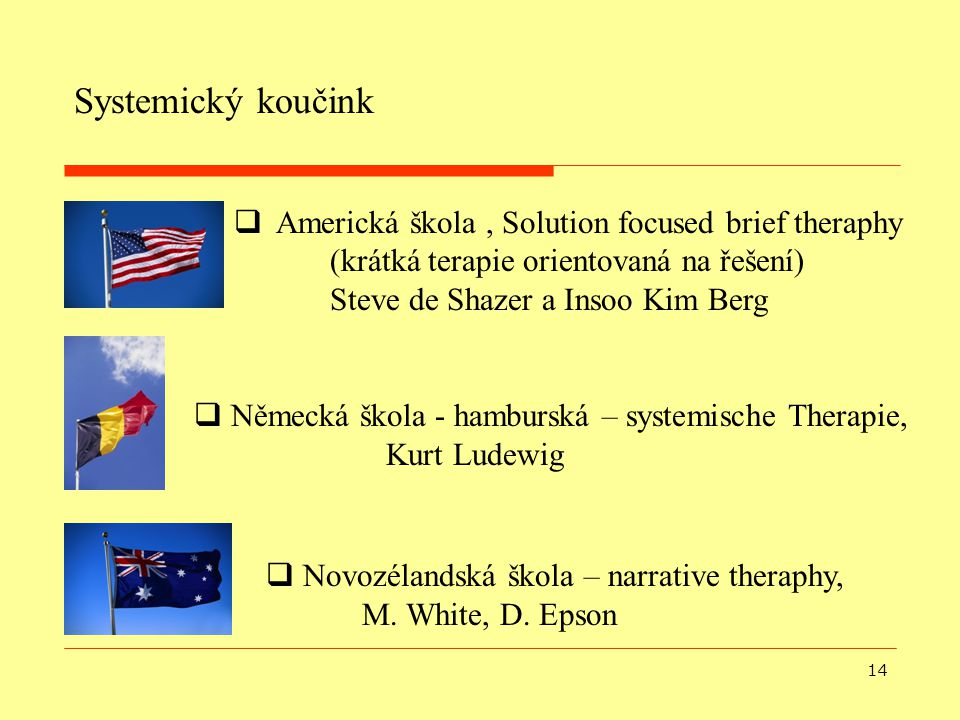 Systemický koučink Americká škola , Solution focused brief theraphy