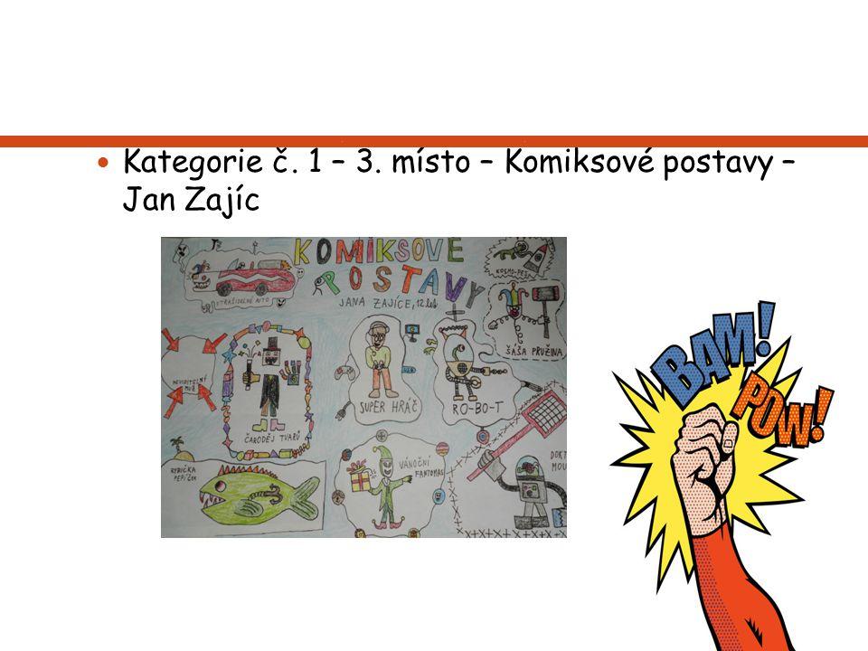 Kategorie č. 1 – 3. místo – Komiksové postavy – Jan Zajíc