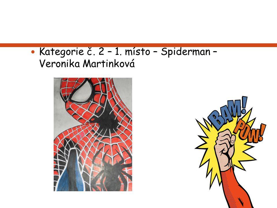 Kategorie č. 2 – 1. místo – Spiderman – Veronika Martinková