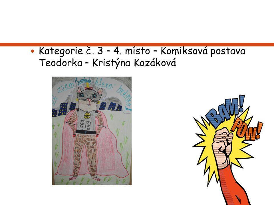 Kategorie č. 3 – 4. místo – Komiksová postava Teodorka – Kristýna Kozáková