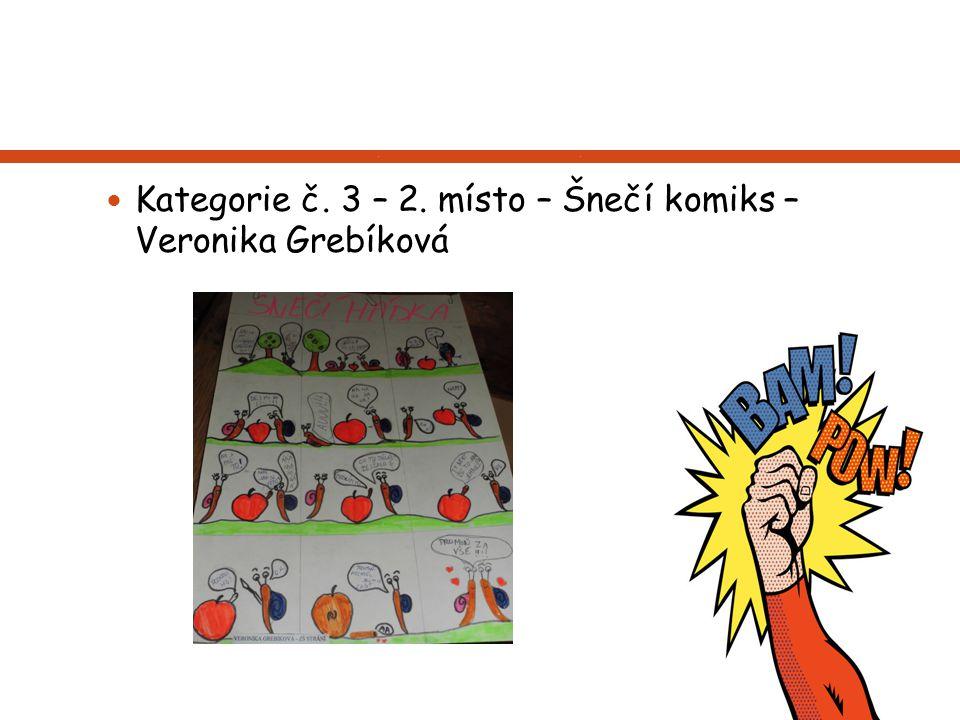 Kategorie č. 3 – 2. místo – Šnečí komiks – Veronika Grebíková