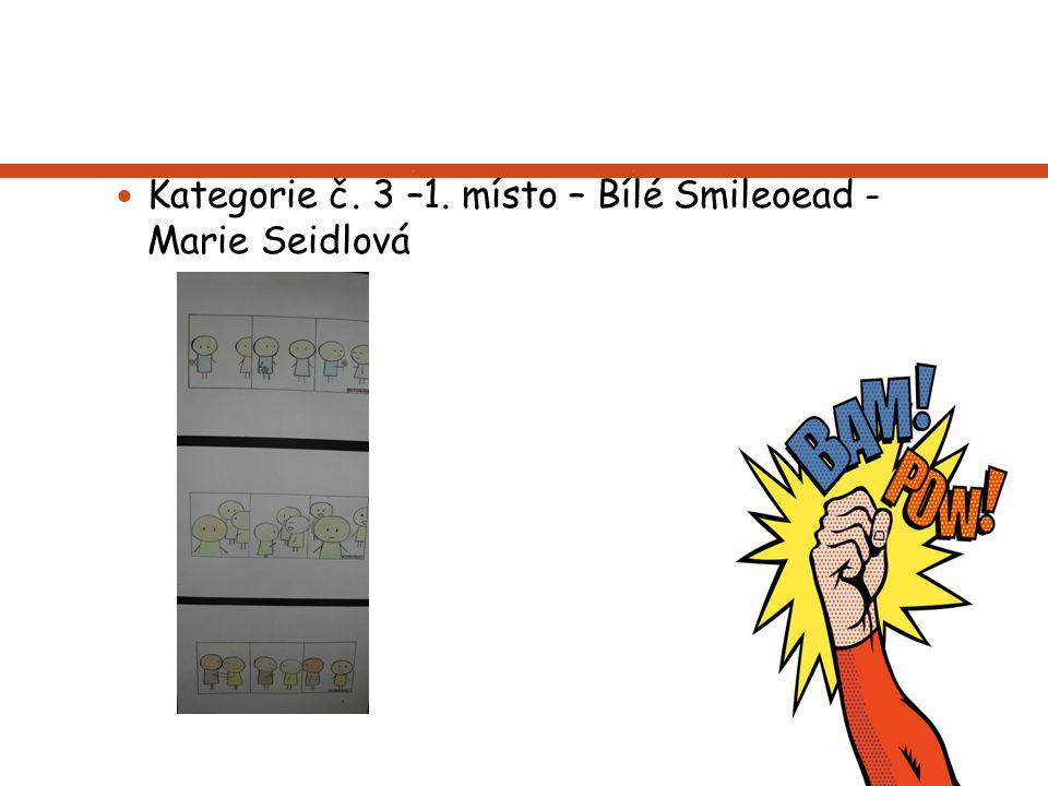 Kategorie č. 3 –1. místo – Bílé Smileoead - Marie Seidlová