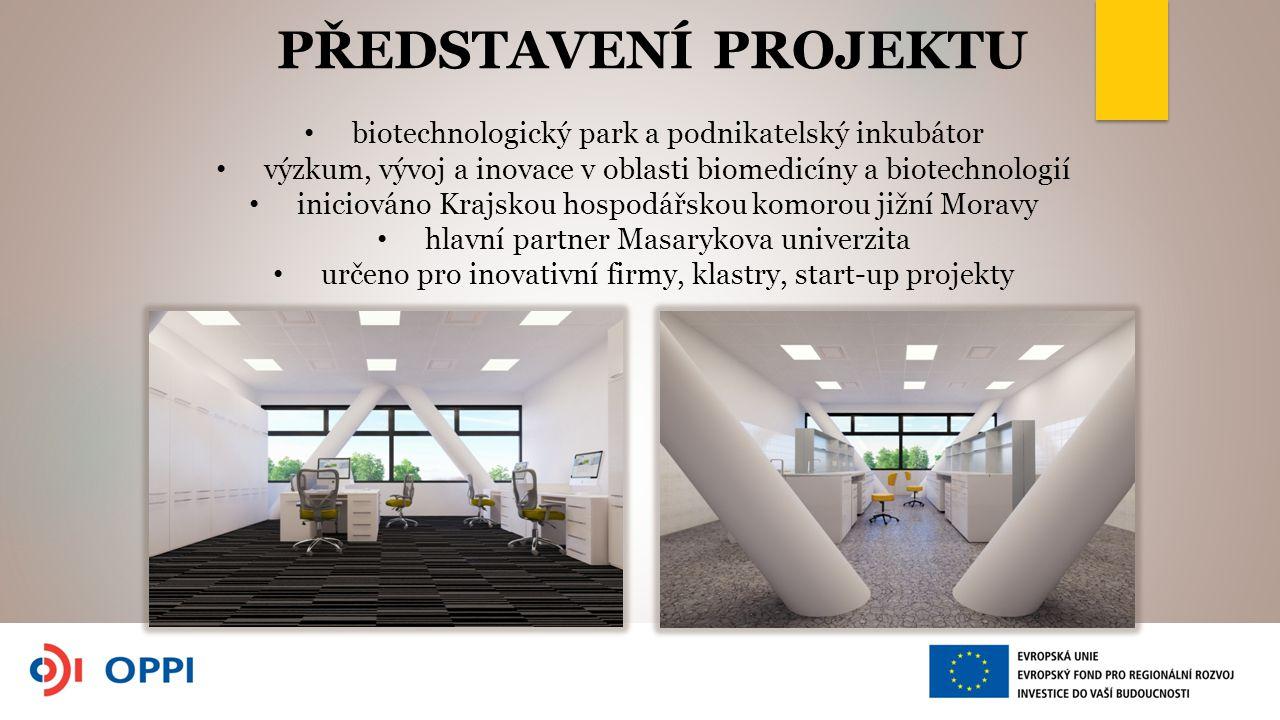 PŘEDSTAVENÍ PROJEKTU biotechnologický park a podnikatelský inkubátor