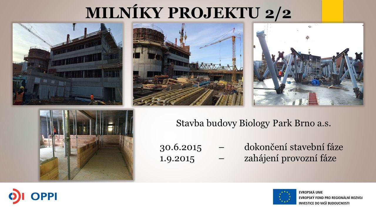 Stavba budovy Biology Park Brno a.s.