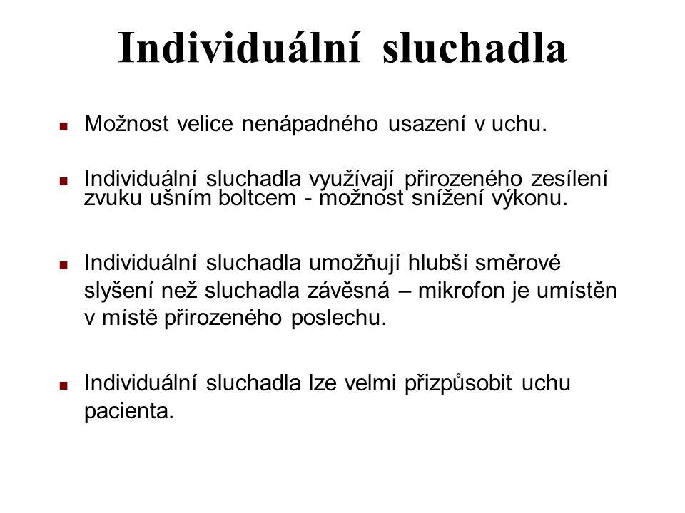 Individuální sluchadla