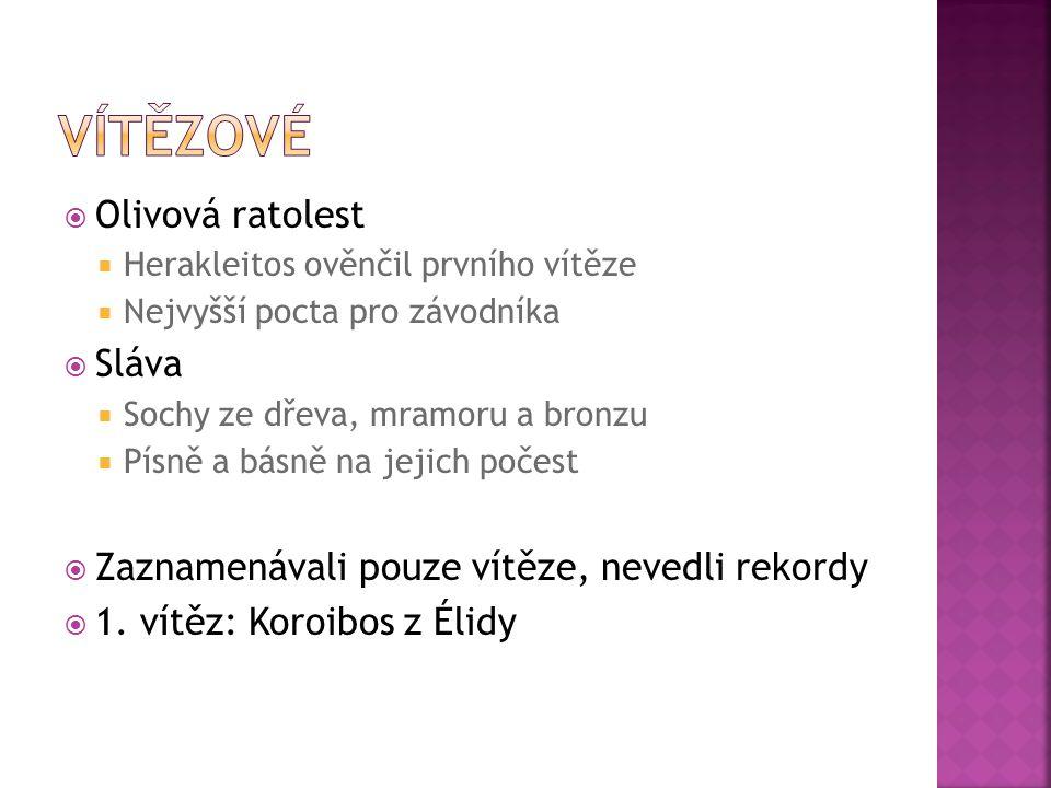 Vítězové Olivová ratolest Sláva