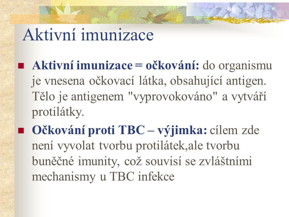 Aktivní imunizace