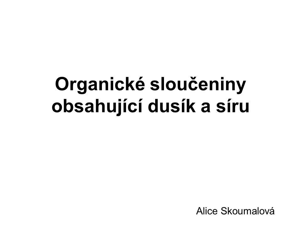 Organické sloučeniny obsahující dusík a síru