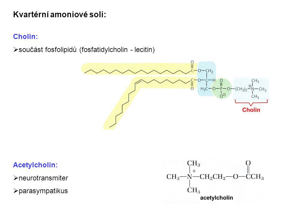 Kvartérní amoniové soli: