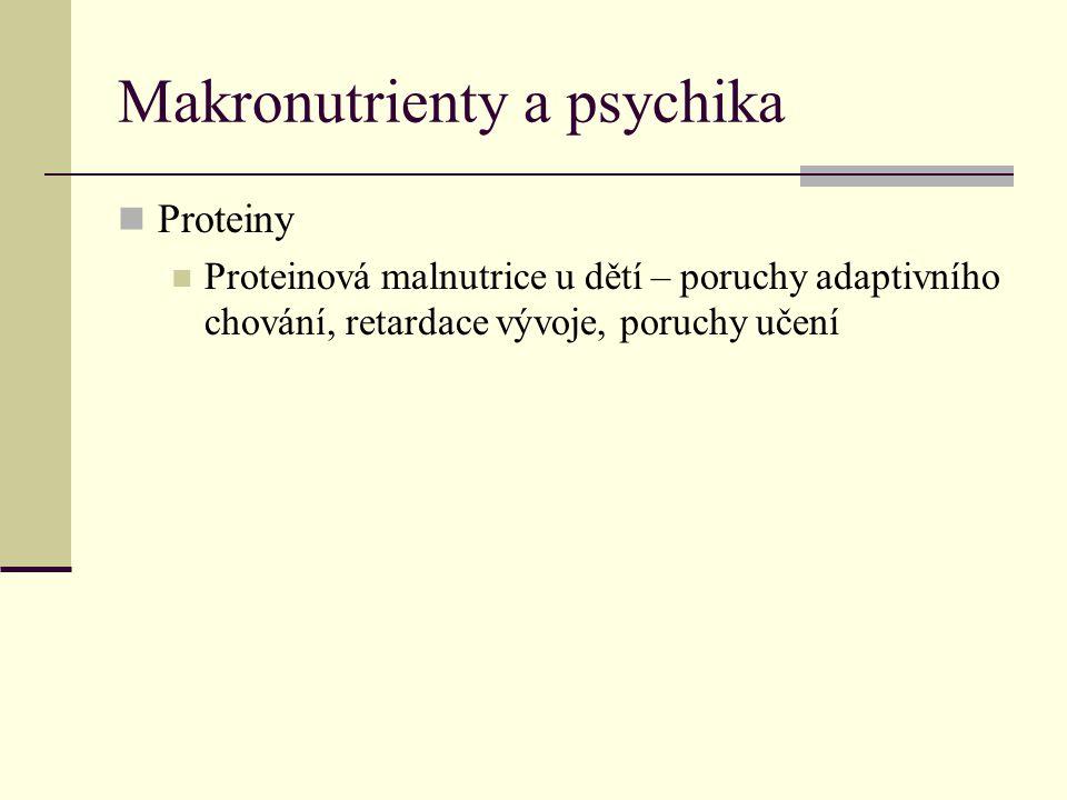 Makronutrienty a psychika