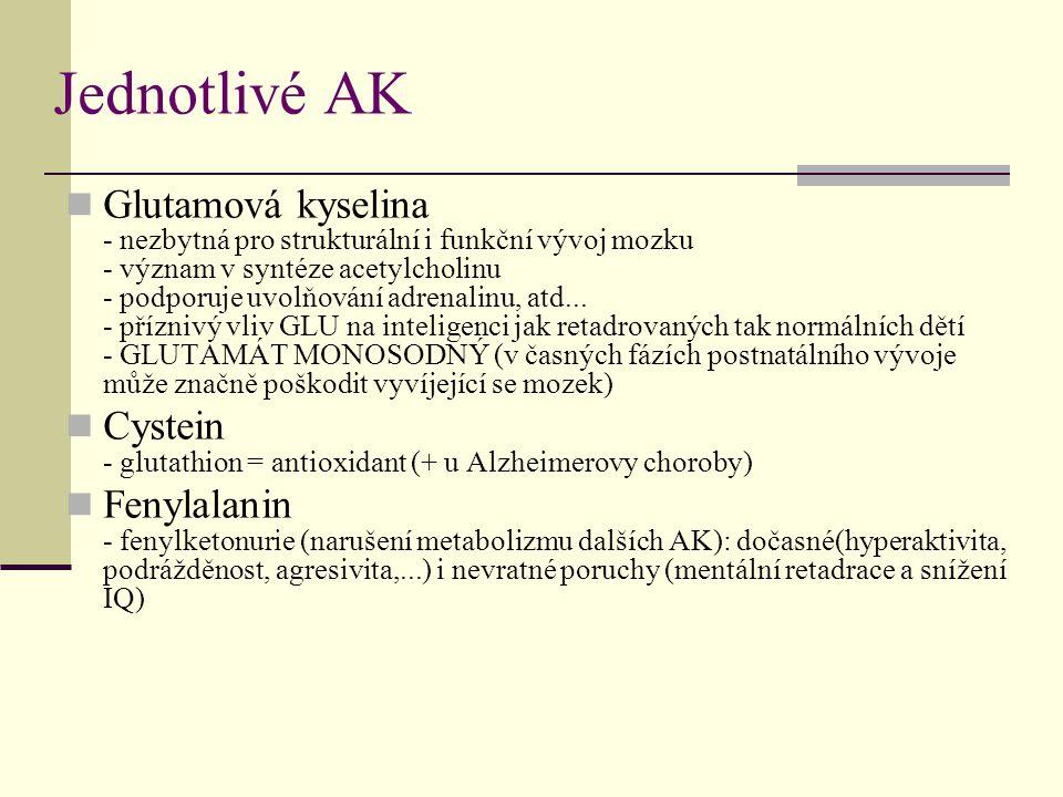 Jednotlivé AK