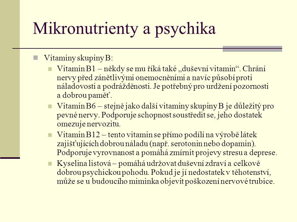 Mikronutrienty a psychika