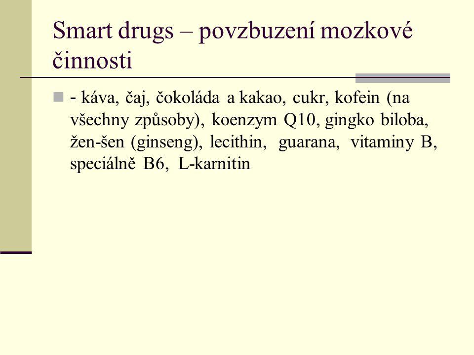 Smart drugs – povzbuzení mozkové činnosti